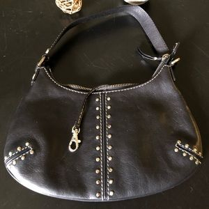 Michael Kors Studded Black Uptown Astor Hobo Bag